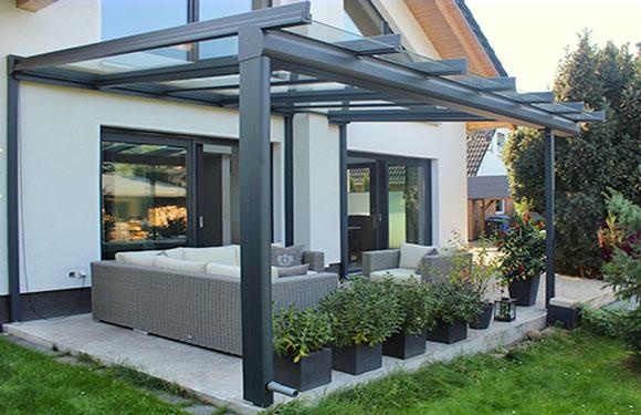 Terrassendach Ambitop mit Dachüberstand #1